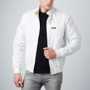 $148 Men's Members Only Racing Jacket White Medium